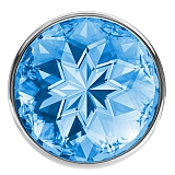 Анальная пробка Diamond Light blue Sparkle Small
