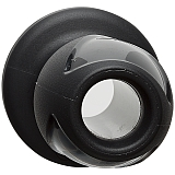 "Анальная пробка с отверстием Kink Wet Works Explore Platinum Premium Silicone Plug 4"" Black"